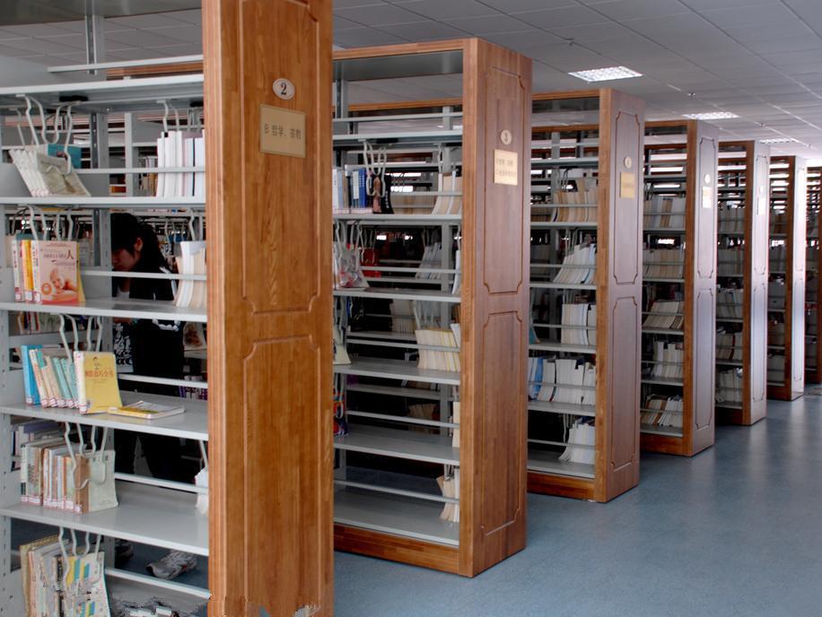 实木钢制书架